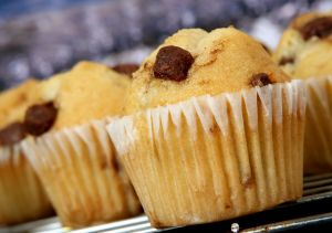 muffin con chocolate
